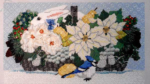 Winter White Basket needlepoint class