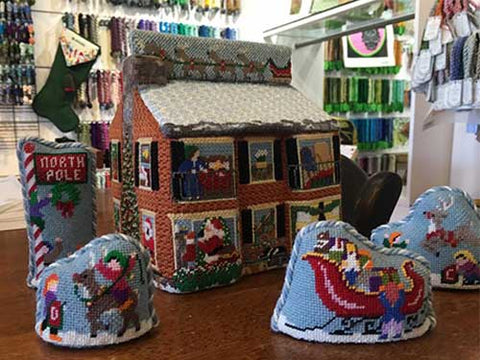 Christmas Village Finished Needlepoint