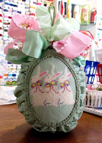 finished easter ornament canvas
