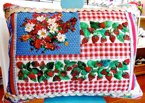 strawberry flag needlepoint class