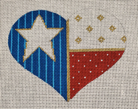 Heart Shaped Flag w/Stitch Guide