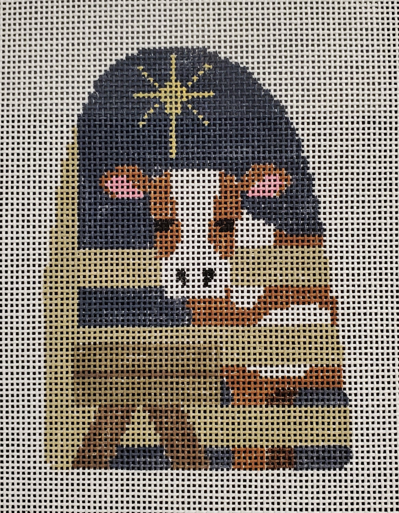 Kathy Schenkel Faces Nativity - Cow with Manger