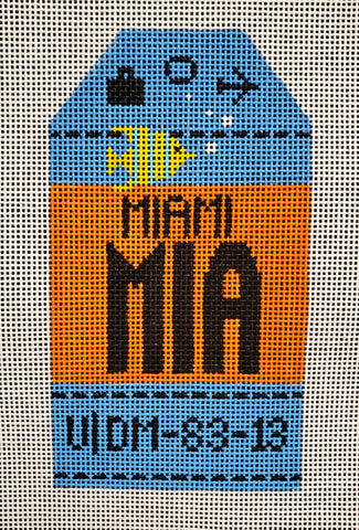 Miami Luggage Tag