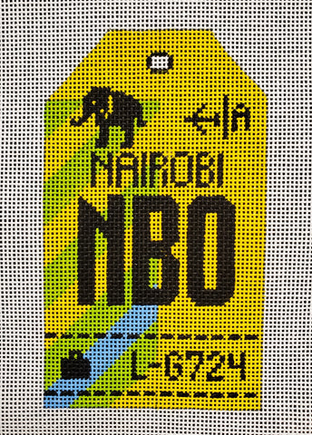 Nairobi Luggage Tag