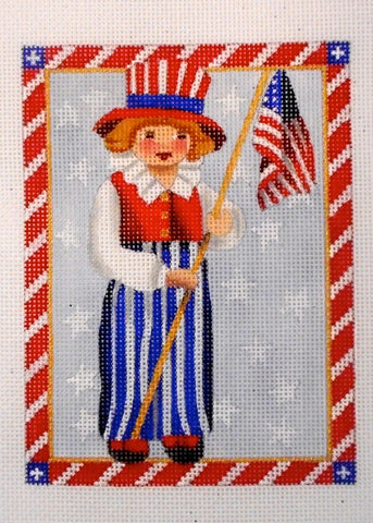4th of July Children- Flag Girl