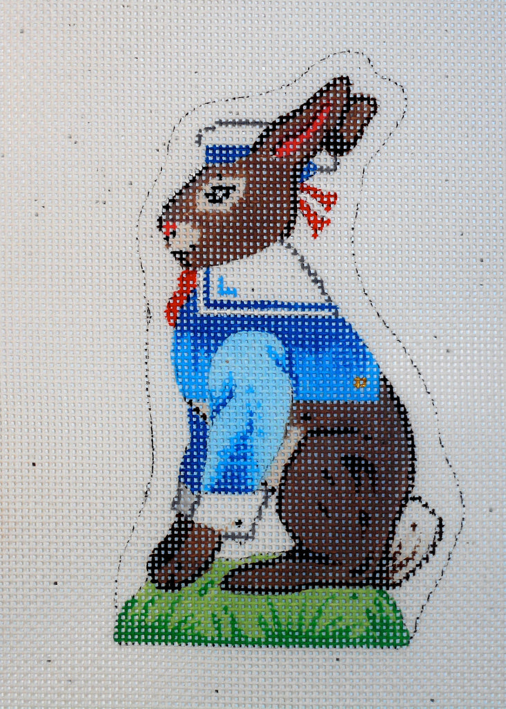 Chocolate Easter Bunny in Sailor Suit