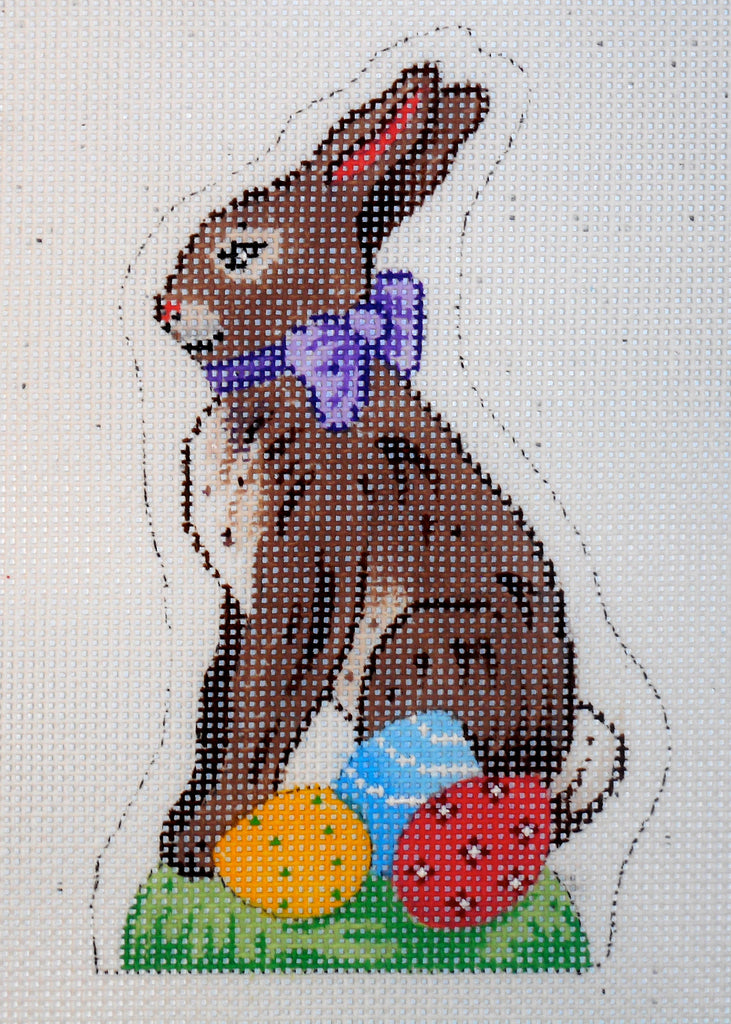 Chocolate Easter Bunny with Eggs
