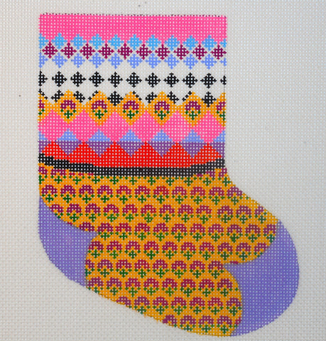 Argyle Mini Stocking