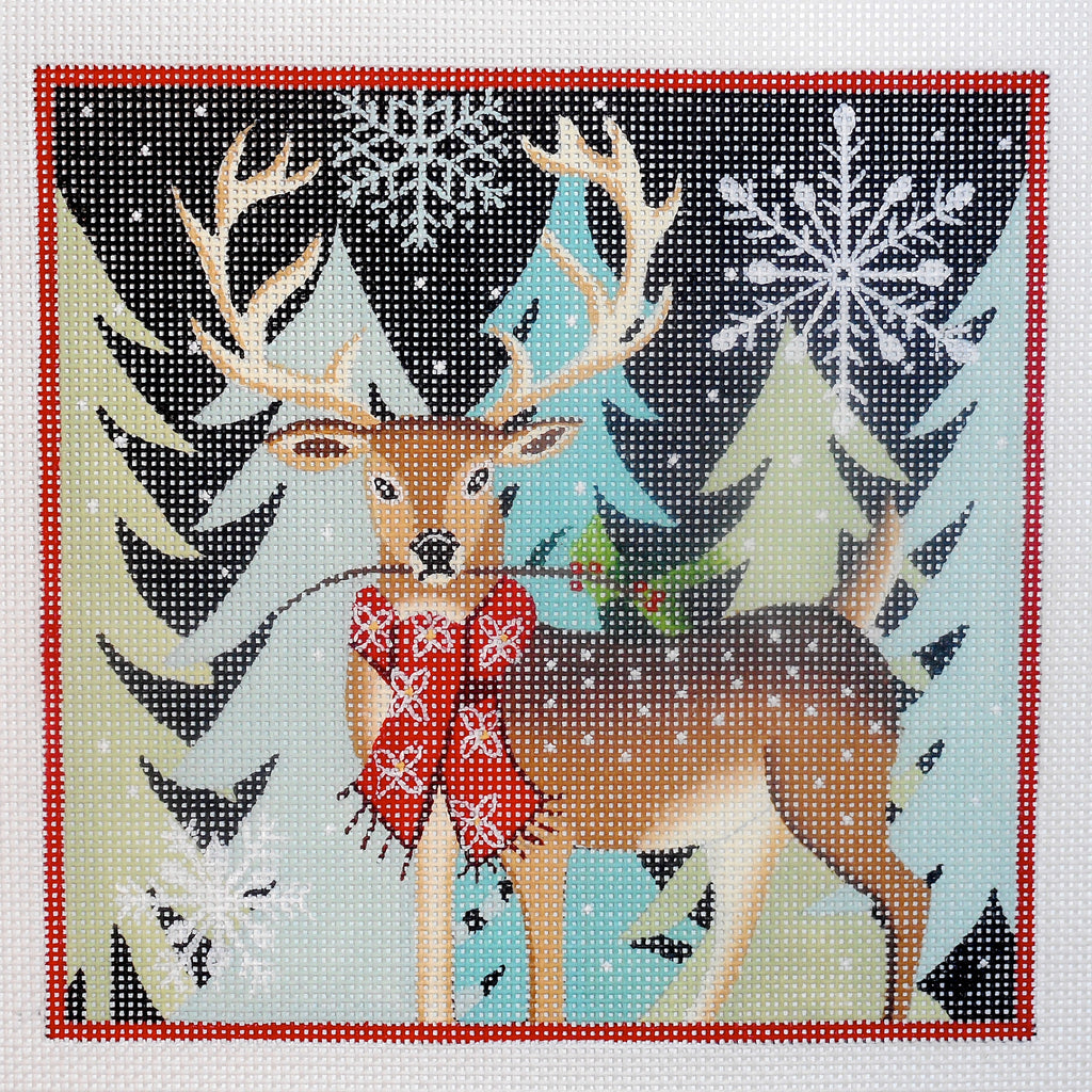 Reindeer with Scarf