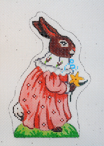 Easter Bunny with Pink Coat