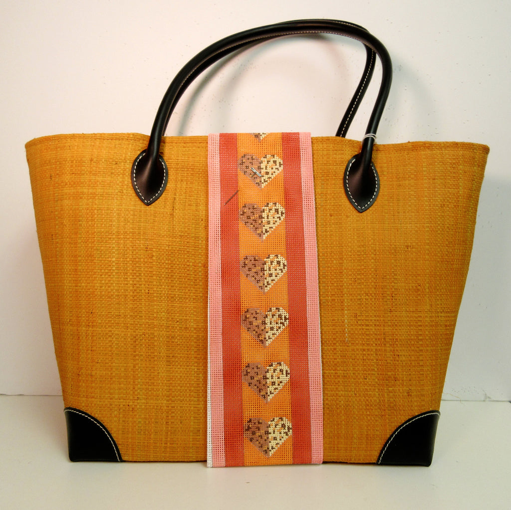 Orange Linen Tote Bag