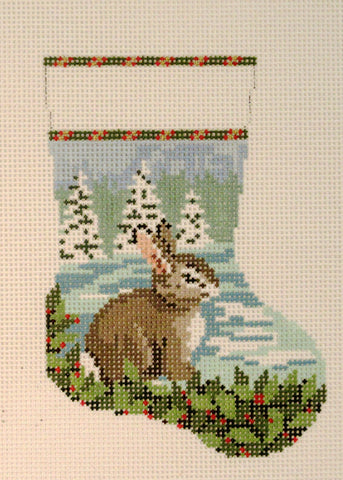 Bunny in the Snow Mini Stocking