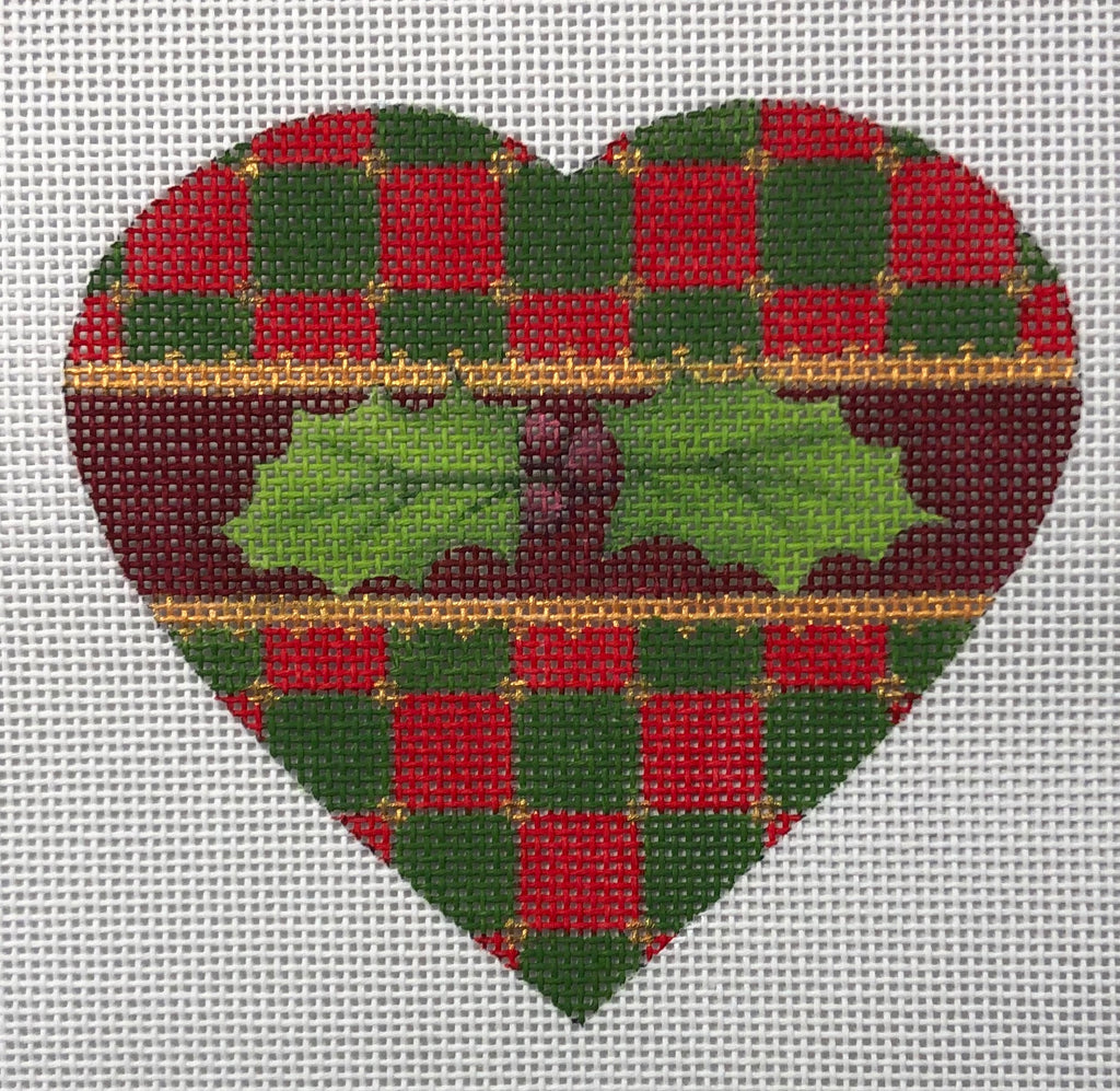 Christmas Heart - Checkerboard