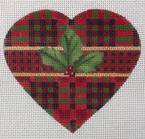 Christmas Heart-Plaid