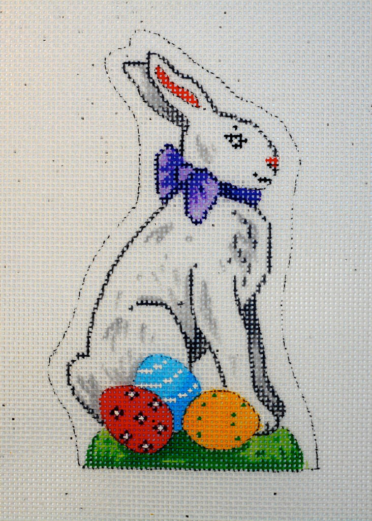 White Easter Bunny Sitting
