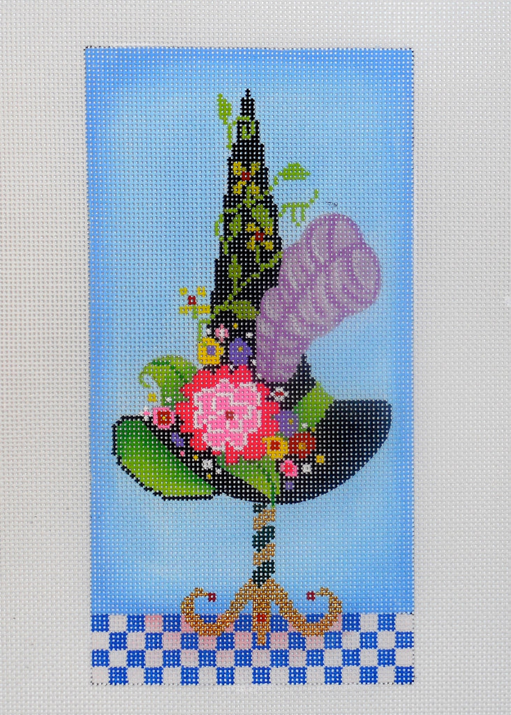 Witch Hat with Flowers and Vine