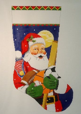 Sports Equipment Santa Stocking