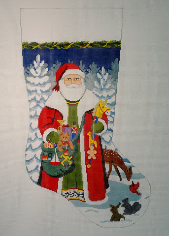 Woodland Santa Stocking