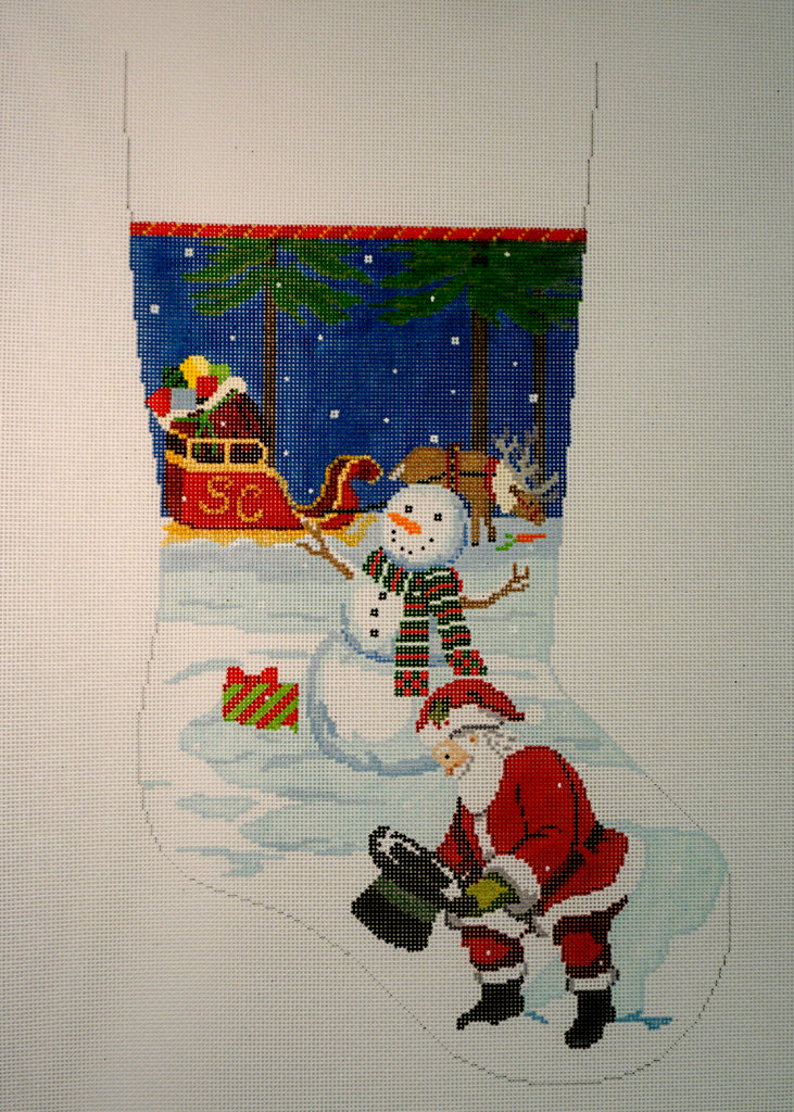Snowman's Hat & Santa Stocking