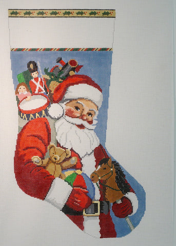 Santa Carrying Toys  Stocking