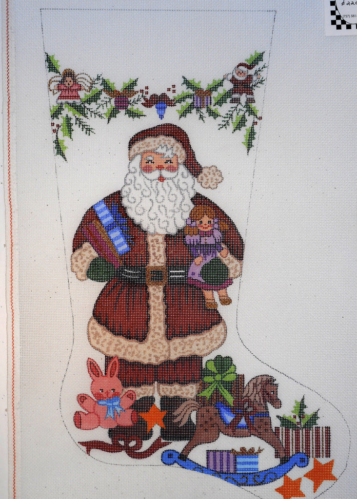 Santa with Toys Stocking