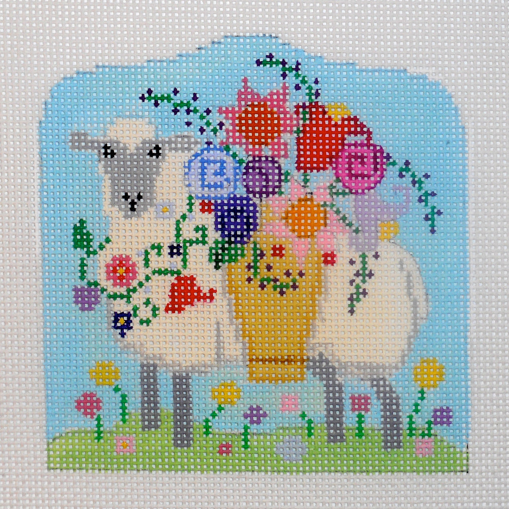Small Sheep with Flower