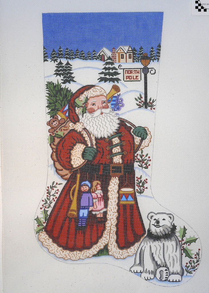Winter Santa Stocking