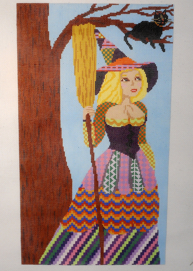 Witch Holding Broom