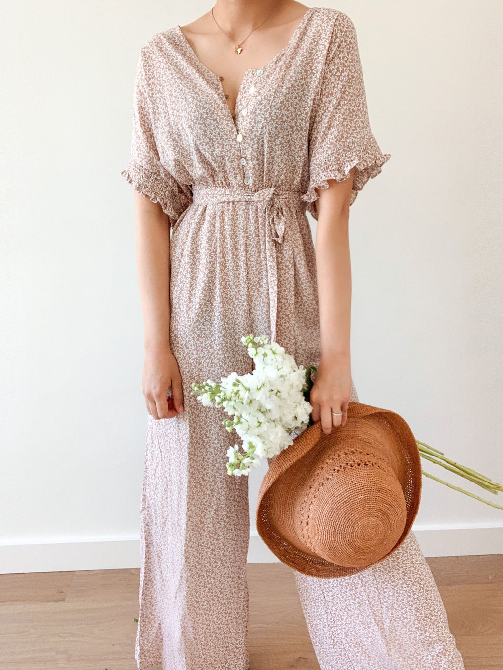 Garden groves jumpsuit