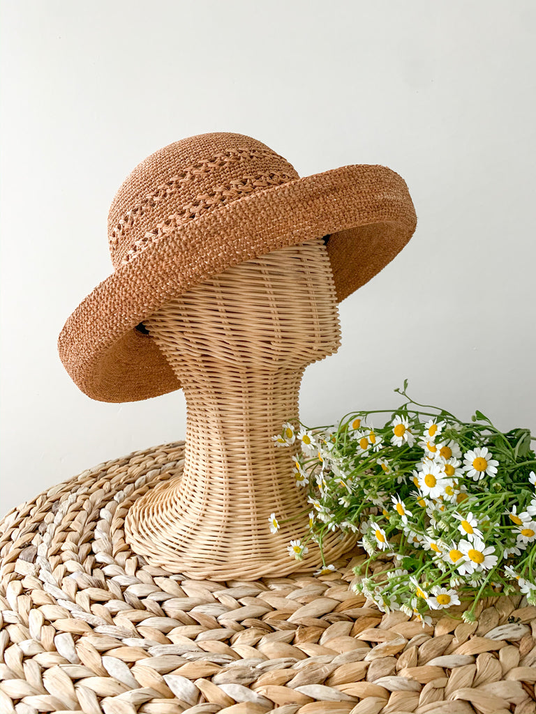 In the garden hat