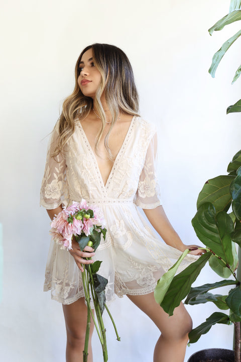 Brunch Romper - Breath of Youth Clothing