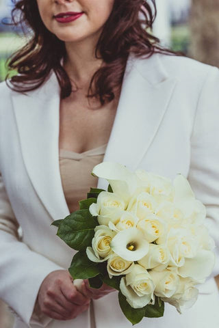 Made to measure wedding suits for women