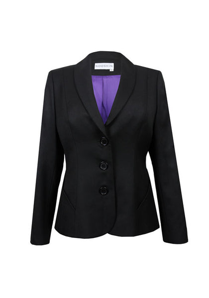Business suit jacket for women - Penny in black pure wool