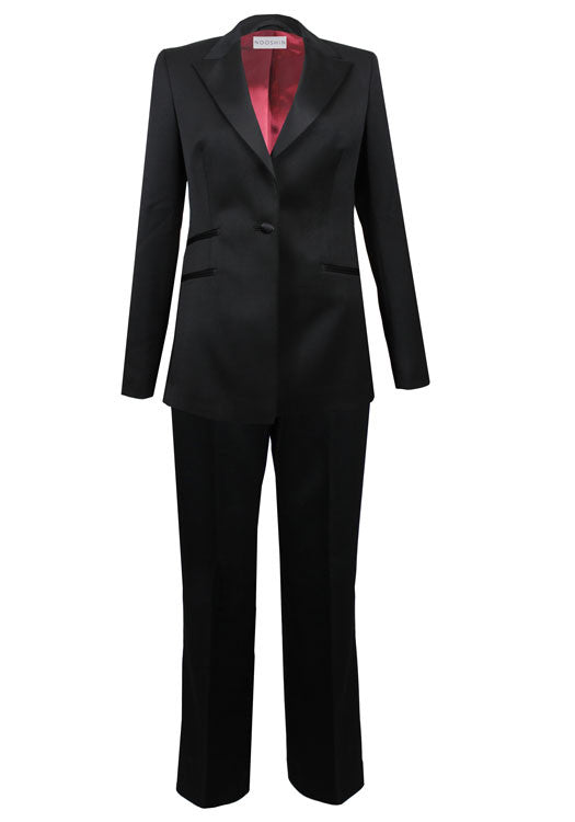 Ladies business suits - Maria pure wool tux trouser suit