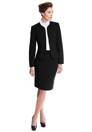 Black skirt suit business wear for women