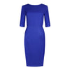 Women's workwear - Emily blue tailored dress