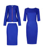Women's workwear - Emily blue 3 piece skirt dress suit