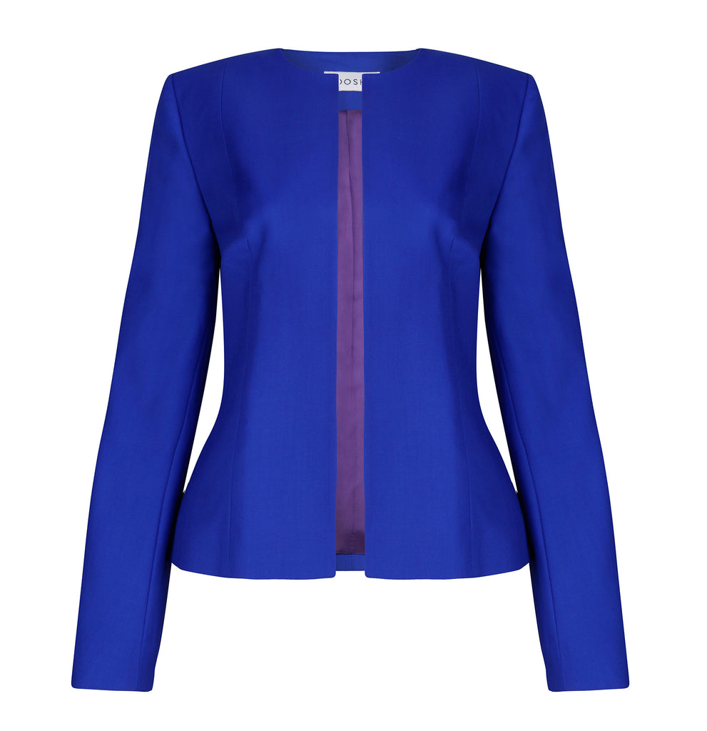 Women's business tailored jacket - Emily sapphire blue