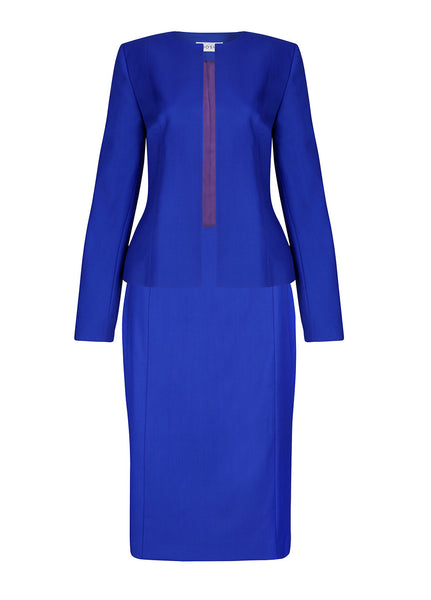 Women's tailored suits - Emily sapphire blue exclusive
