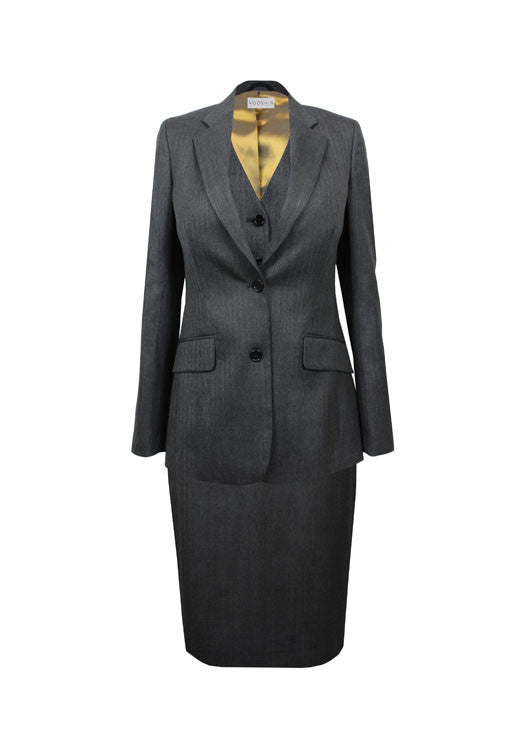Women's luxury workwear - Rose three piece tailored skirt suit