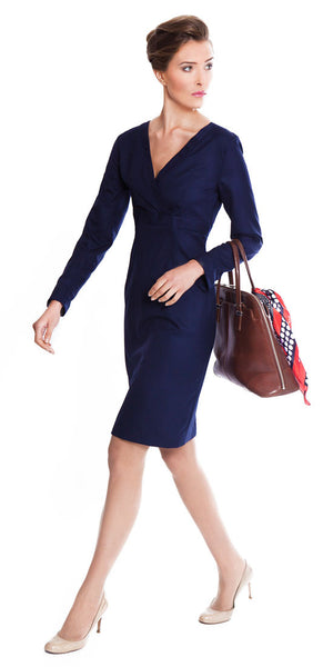 Ladies business suits - navy Julie dress
