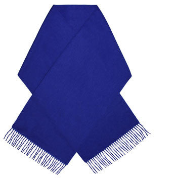 Blue luxury cashmere scarf