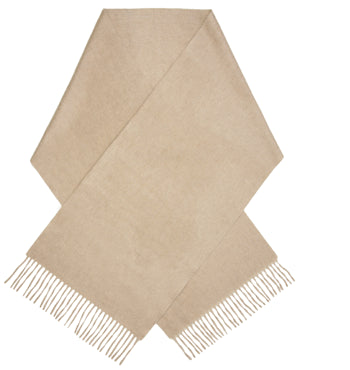 Cream luxury cashmere scarf