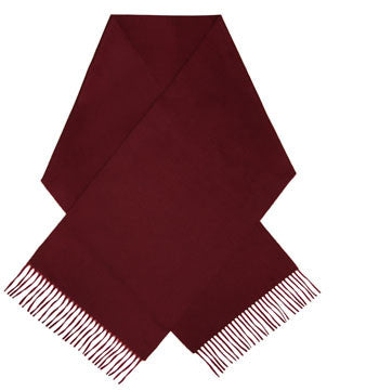 Dark red luxury cashmere scarf