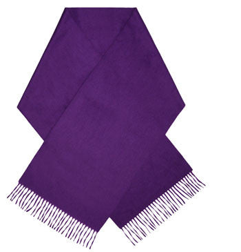 Purple luxury cashmere scarf