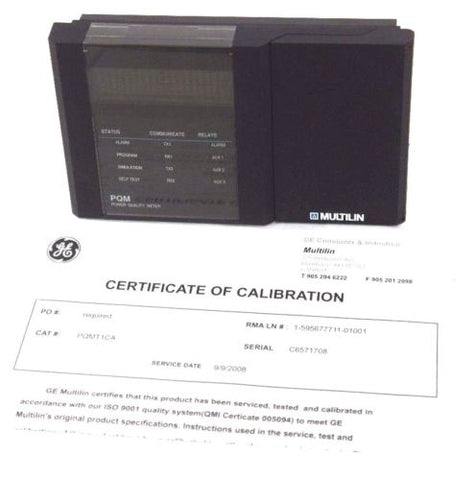GE MULTILIN PQMT1CA POWER QUALITY METER PQM - REPAIRED W/ CERTIFICATE