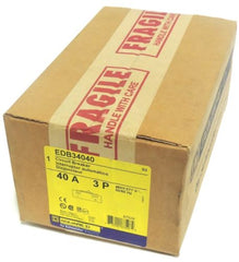 FACTORY SEALED SQUARE D EDB34040 CIRCUIT BREAKER 40A, 3P, 480Y/277V~ 50/60HZ, S3