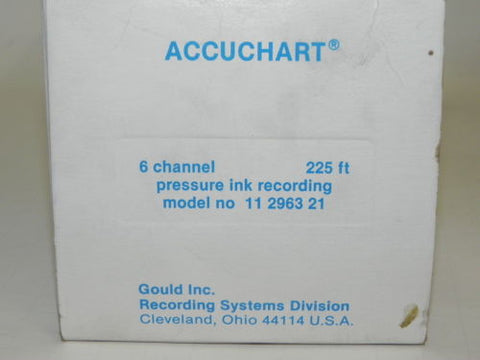 GCC GOULD 11 2963-21 ROLLED CHART PAPER NEW IN BOX