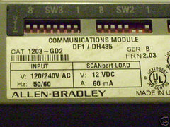 ALLEN BRADLEY 1203-GD1 COMMUNICATIONS MODULE