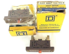 LOT OF 2 NEW SQUARE D CLASS 9007 TYPE CO-6 SNAP SWITCHES 9007-CO-6, 9007CO6